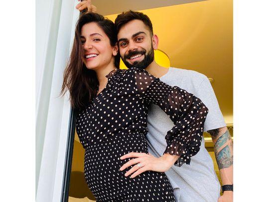 Virat Kohli and wife Anushka Sharma show off the bump