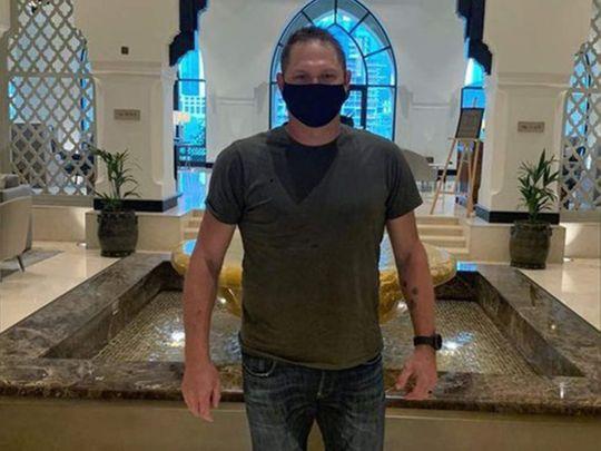 Delhi Capitals' Ryan Harris checks into Dubai