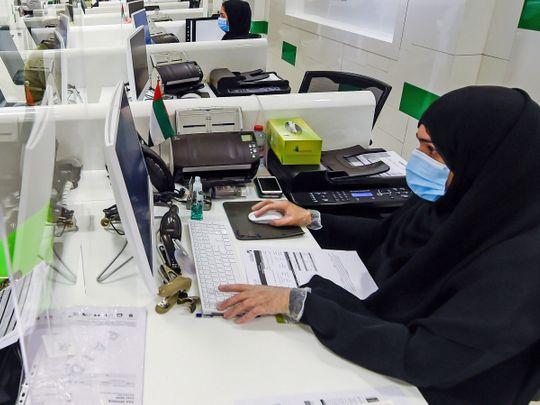 Emirati women workers