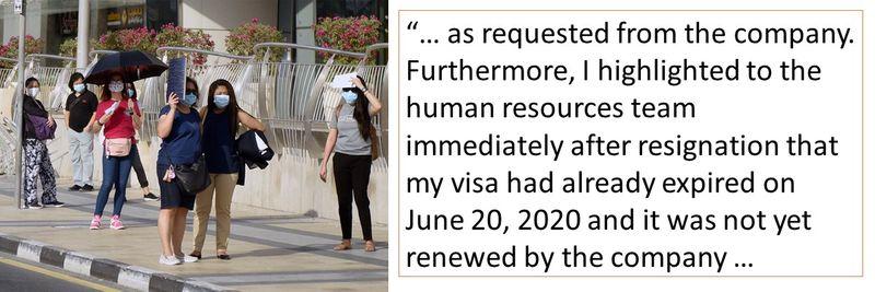My visa had already expired on June 20, 2020