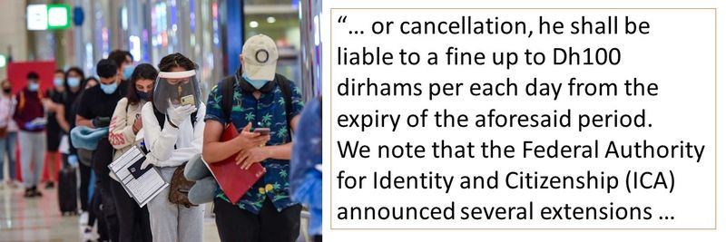 he shall be liable to a fine up to Dh100 dirhams per each day from the expiry of the aforesaid period