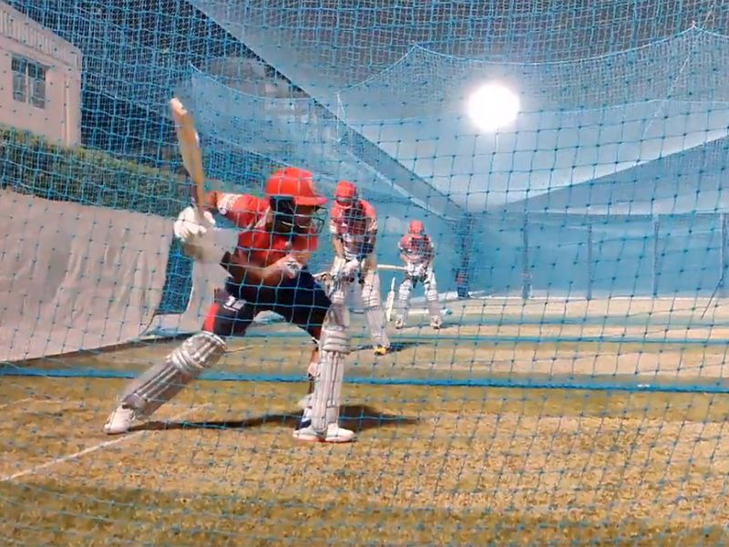 Kings XI Punjab certainly did not waste any time, swinging away in the nets now they are out of quarantine.