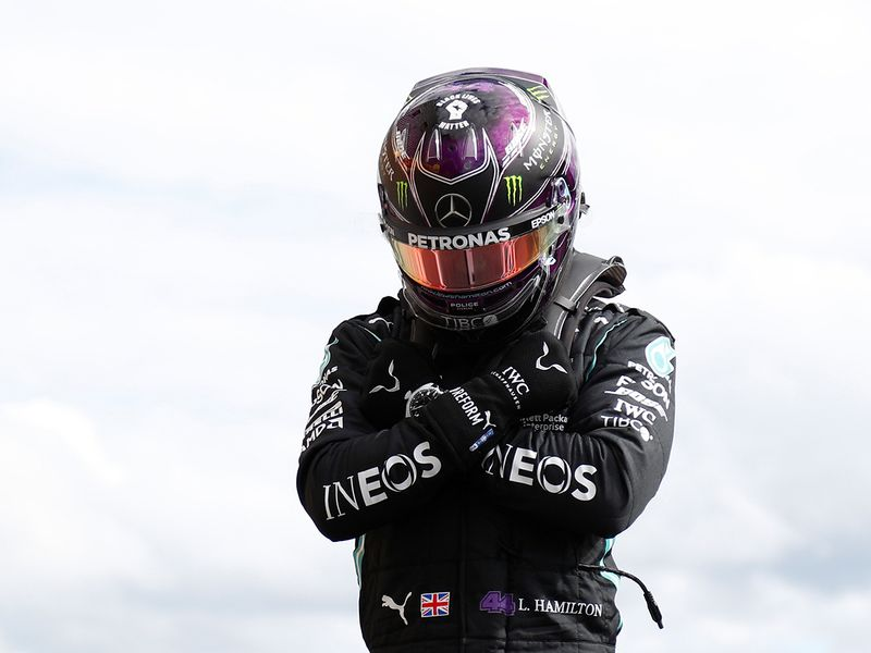 Lewis Hamilton pays tribute to actor Chadwick Boseman after taking pole in the Belgian GP