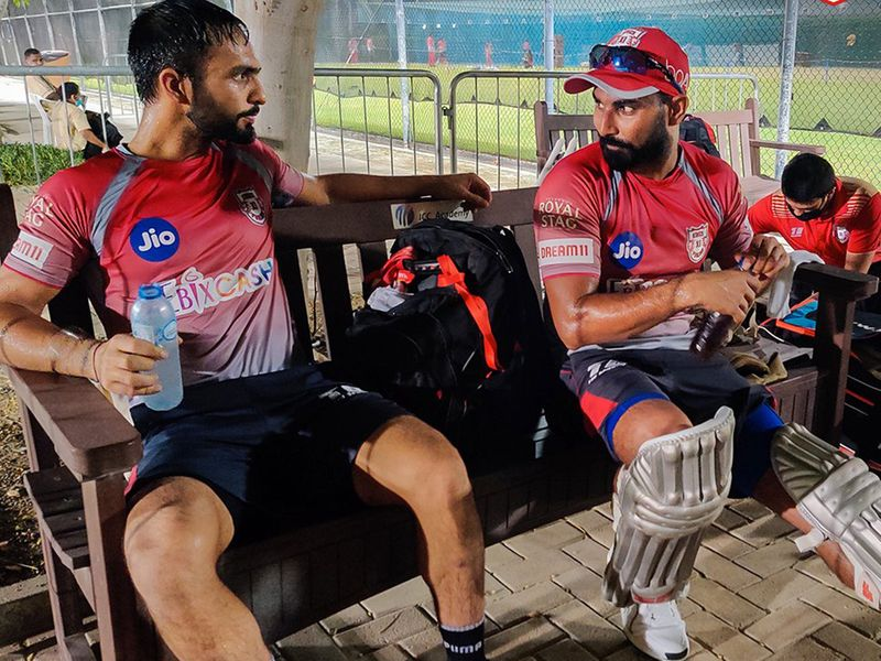 Mandeep Singh and Mohammad Shami were in relaxed mood during the sessions for Punjab.