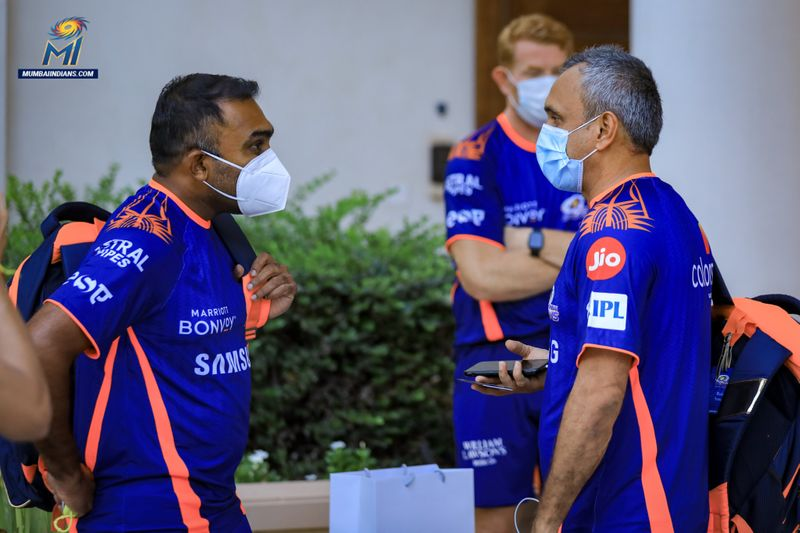 Mumbai Indians were stressing the need for safety protocols amid the COVID-19 pandemic.