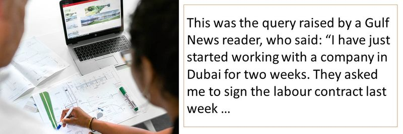 Gulf News reader: I just signed the labour contract