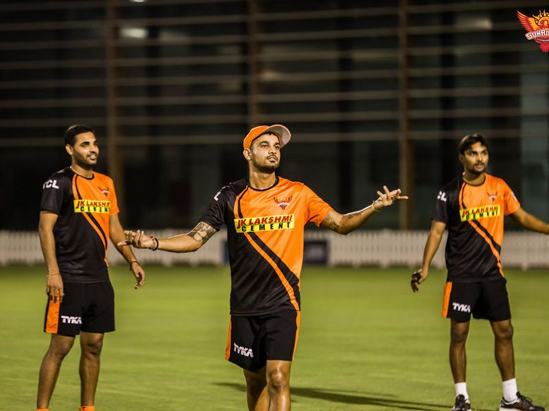 Making up for lost time, the Sunrisers were even complaining as their session came to an end.