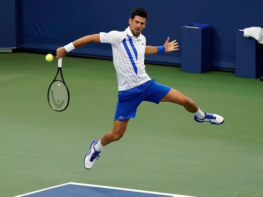 Tennis Novak Djokovic Keeps Up Perfect 2020 With Victory In New York Tennis Gulf News