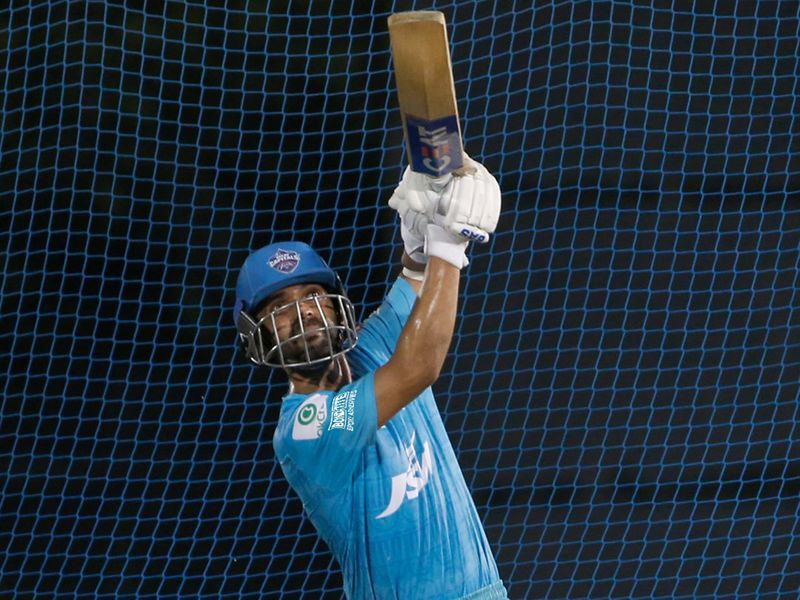 They were joined by the Delhi Capitals, who were making up for lost time in the nets.