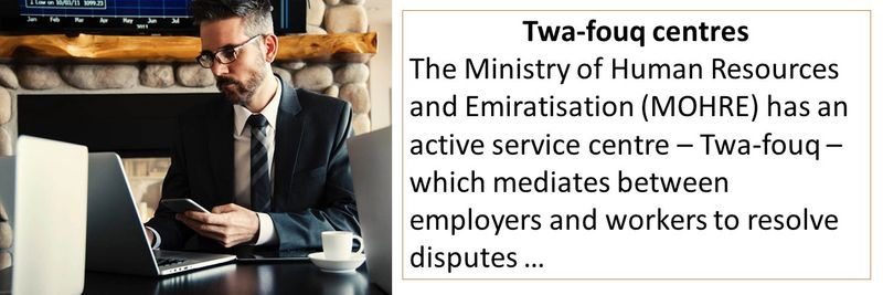 Twa-fouq mediates between employers and workers to resolve disputes