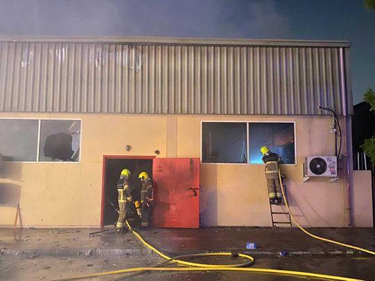 Warehouse fire in Dubai