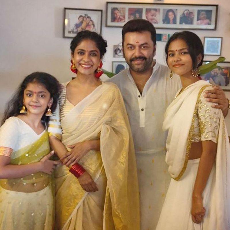 Indrajith Sukumaran and family