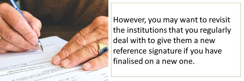 How to change your signature