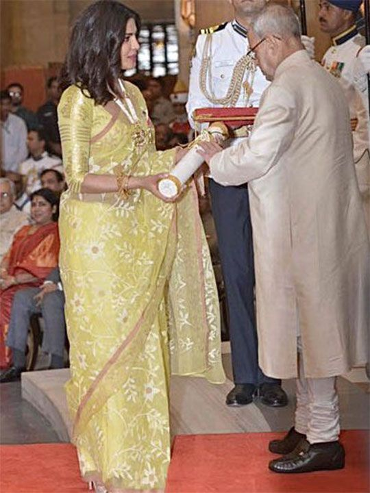 Priyanka Chopra with Pranab  Mukherjee