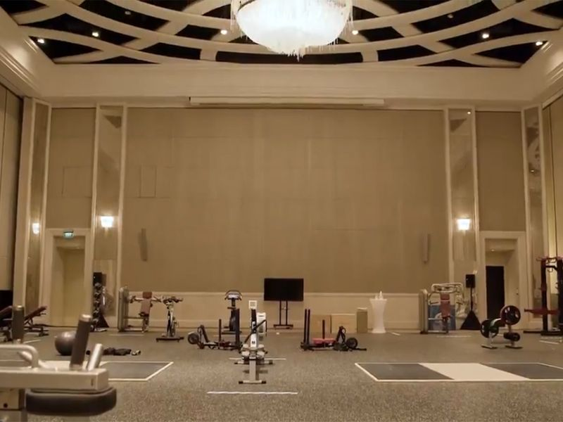 The Indians also have a private gym set up in their hotel.