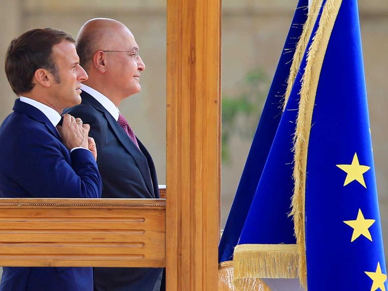 20200902 Macron in Iraq