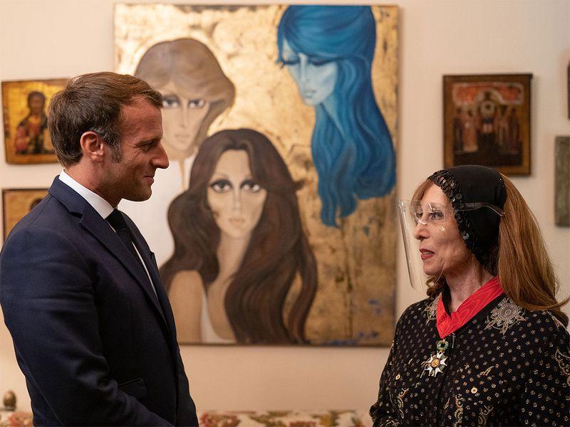 Fayrouz and Macron