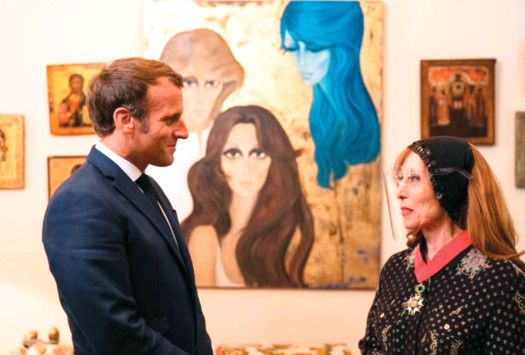 OPN 200902 Fairouz and Macron 1-1599043071685