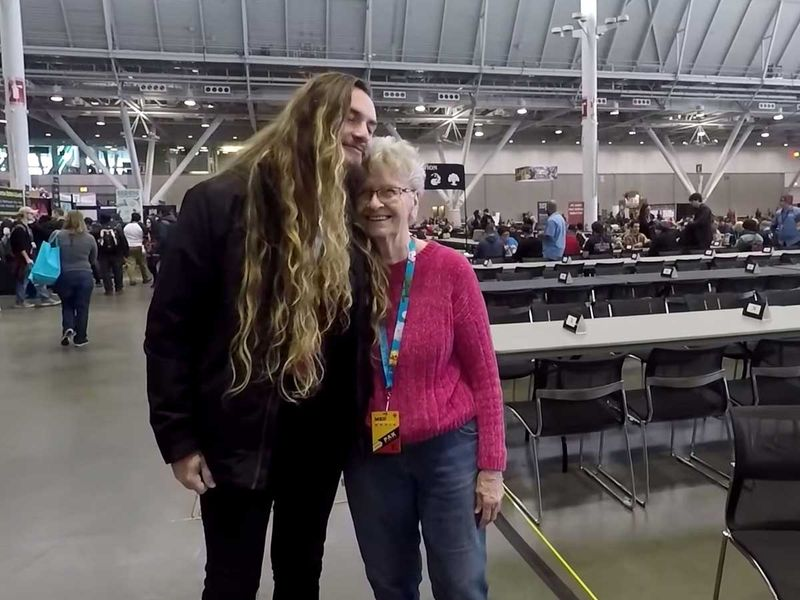Shirley Curry with the YouTuber known as Camelworks,