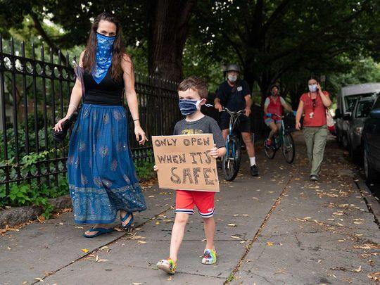 new York school protest