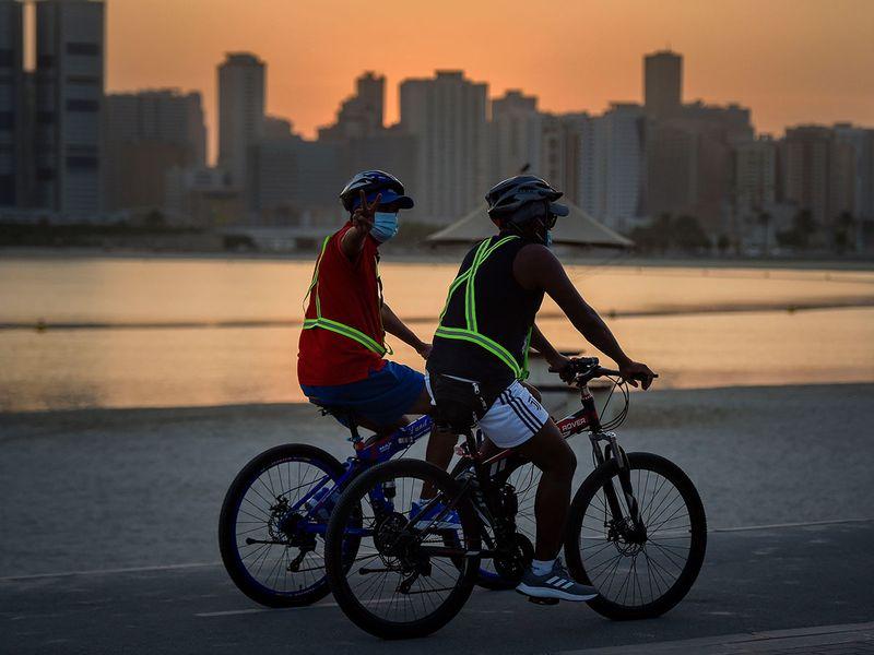 Cycling in Al Mamzar