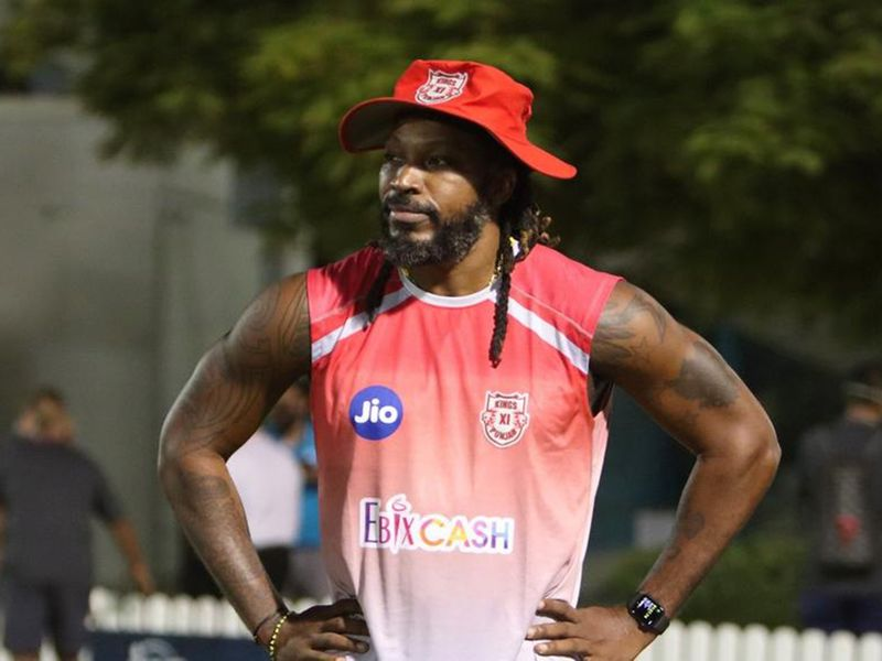 Kings XI Punjab's 'Universe Boss' was his usual hip self.