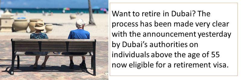 Process for applying for retirement visa