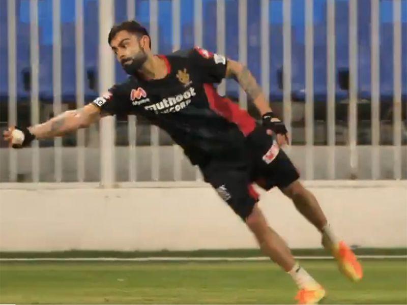 Virat Kohli makes a stunning catch for RCB.