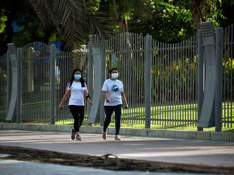 Walking in Zabeel Park