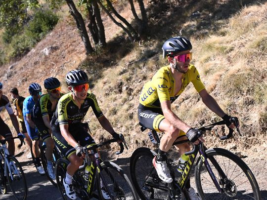 Adam Yates leads the way in the Tour de France