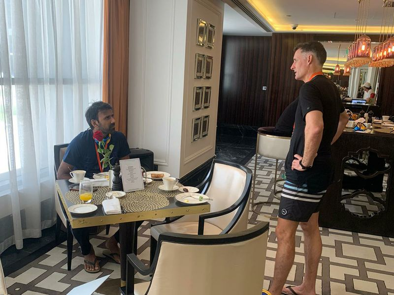 Chennai Super Kings grab a bite after quarantine in Dubai