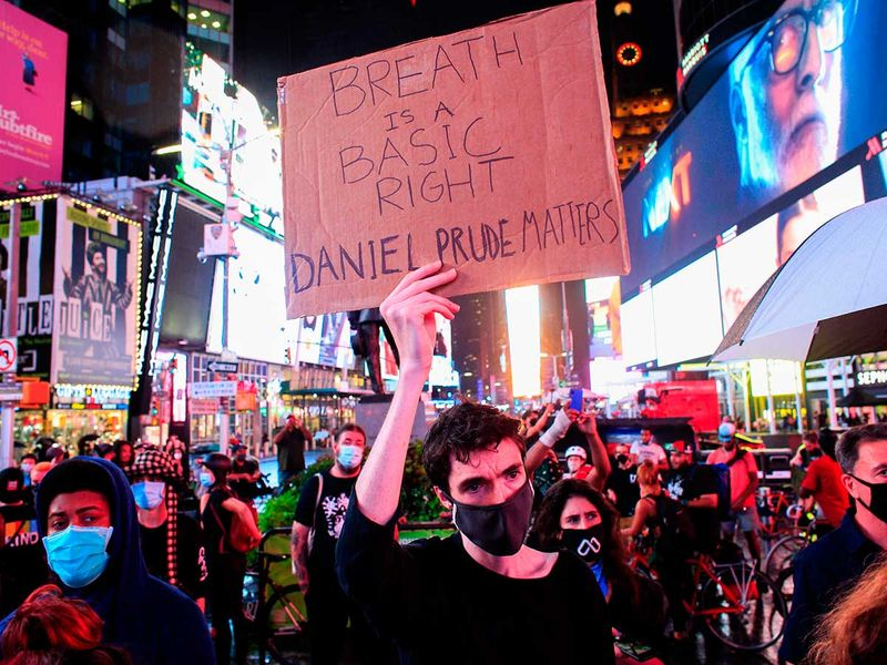 Daniel Prude protests New York