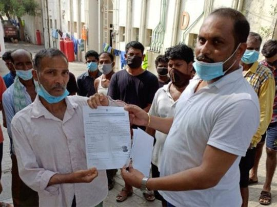 Indian worker Theddu Laxman