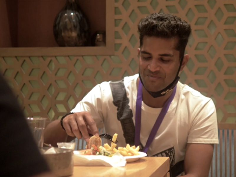 Kolkata Knight Riders' Shubman Gill works up an appetite