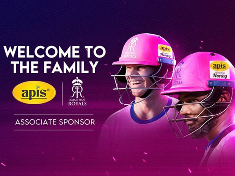 Rajasthan Royals and APIS Honey are partners