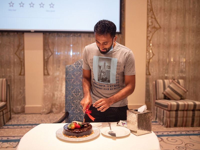Rajasthan Royals had their cake and ate it to mark Shreyas Gopal's 27th birthday.
