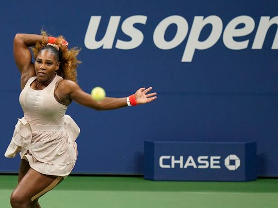 Serena Williams marched into the US Open last 32