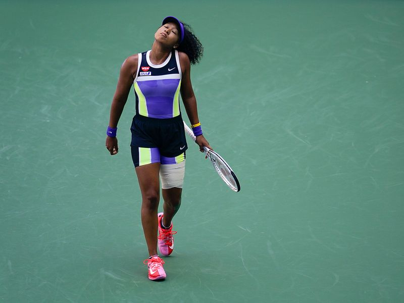 Naomi Osaka struggled past Ukrainian Marta Kostyuk in the US Open.