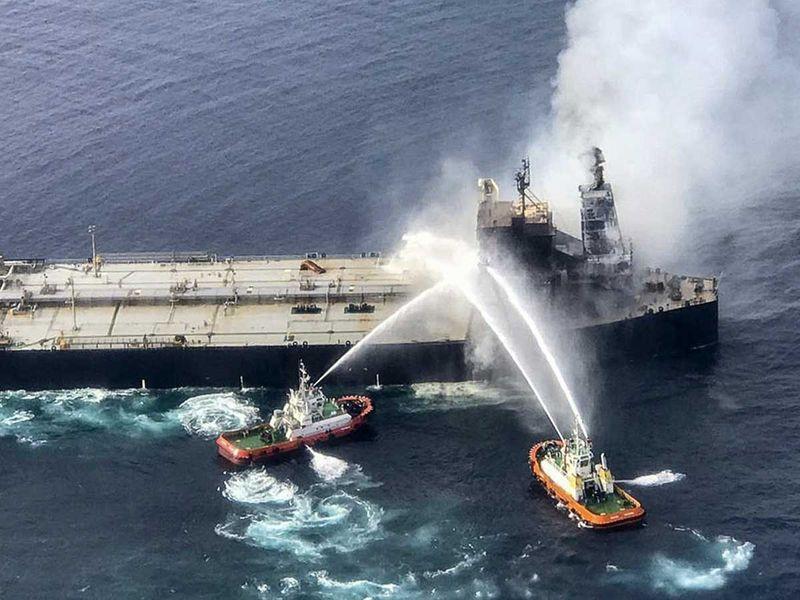 Oil tanker Off Sri Lanka