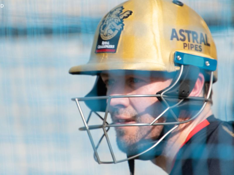 Royal Challengers Bangalore's AB de Villiers was given a tough examination in the nets.