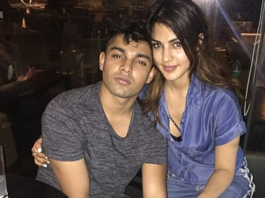 Showik Chakraborty and Rhea Chakraborty