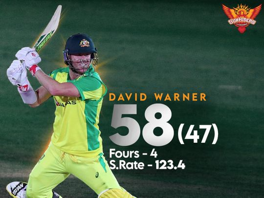 Sunrisers Hyderabad celebrated David Warner's half-century for Australia