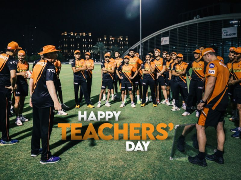 Sunrisers Hyderabay simply said: 'To our coaches, mentors and everyone we learn from #HappyTeachersDay.'