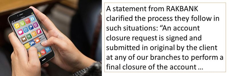 An account closure request is signed and submitted in original by the client at any of our branches to perform a final closure of the account