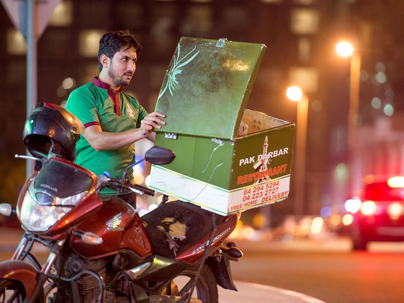 Delivery boy in dubai