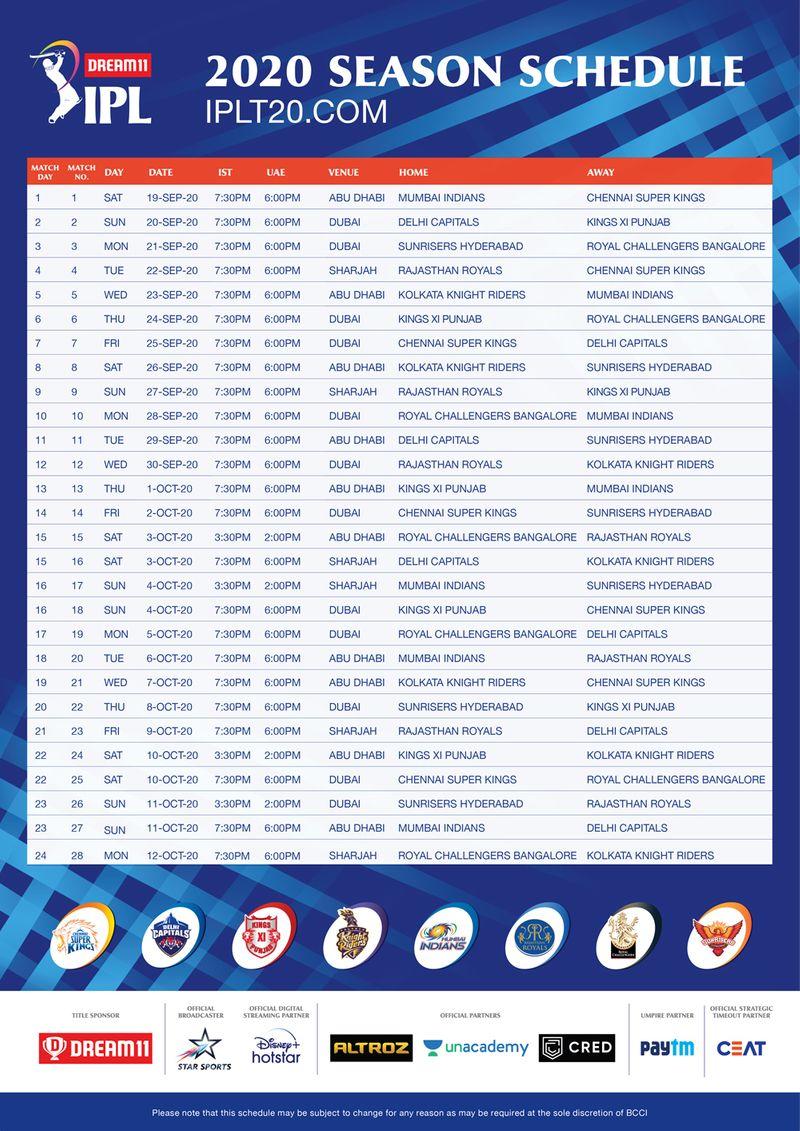 IPL Fixtures 1