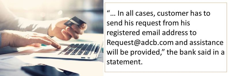 In all cases, customer has to send his request from his registered email address