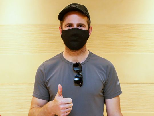 Kane Williamson checks in to the Sunrisers Hyderabad hotel in Dubai