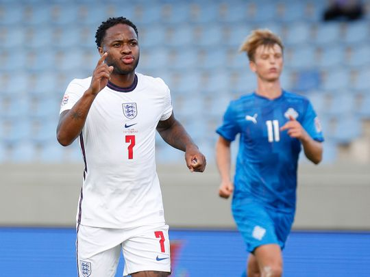Raheem Sterling's late penalty allowed England to beat iceland