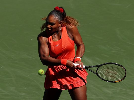 Serena Williams progressed at the US Open